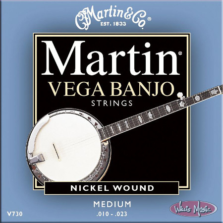 Martin Vega Stng Set Banjo 5st Medium