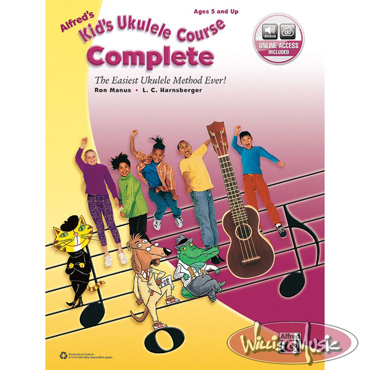 Alfred's Kid's Ukulele Course, Complete  with Audio Access