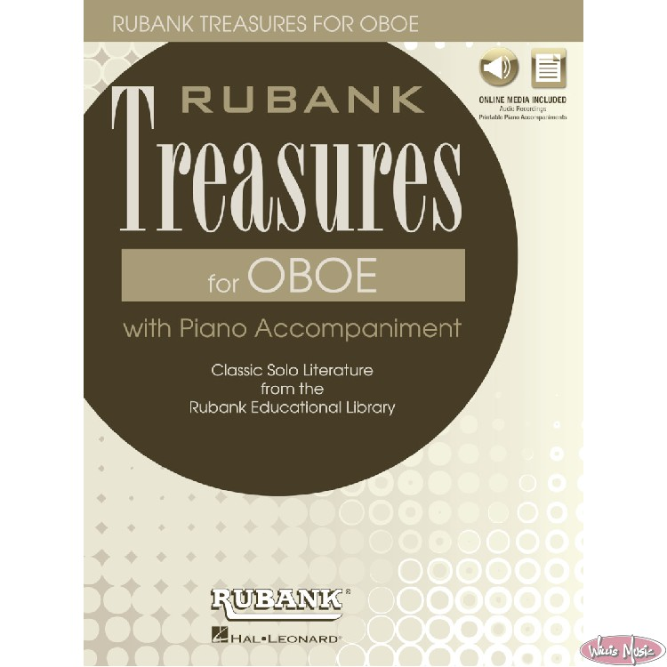 Rubank Treasures For Oboe with Piano Accom./Online Access