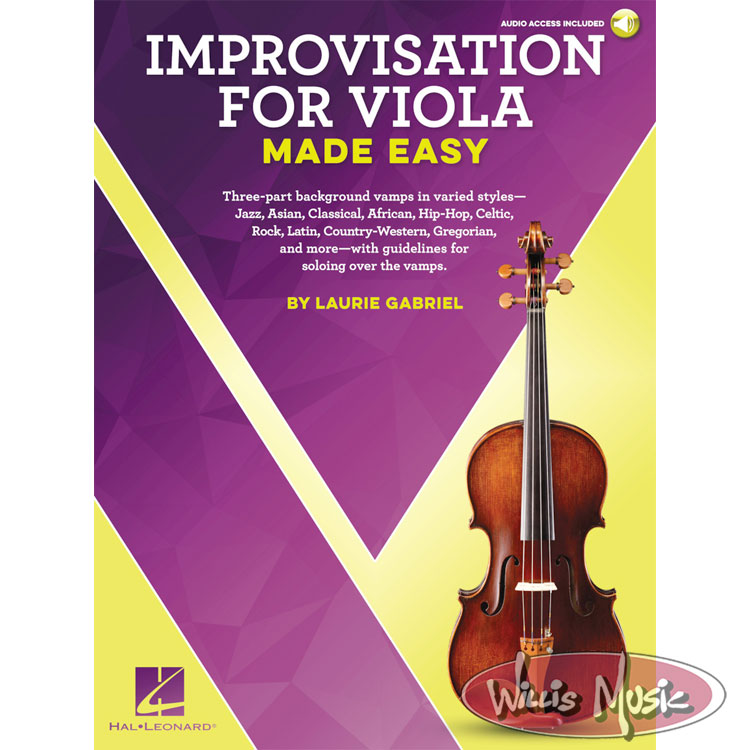 Improvisation For Viola Made Easy   with Audio Access