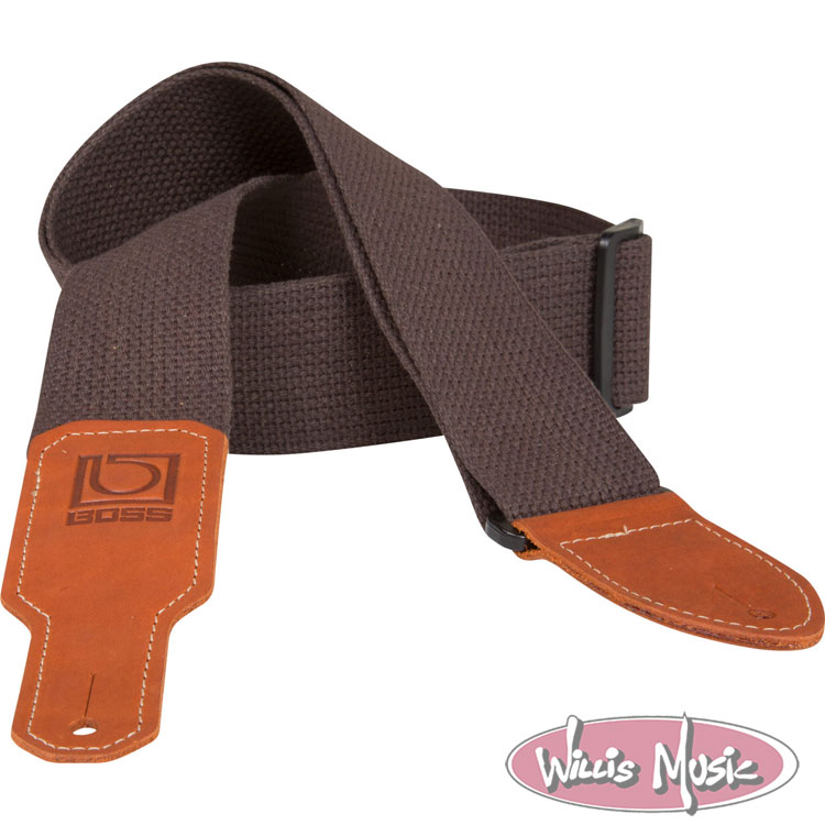 Boss 2in Brown Cotton Guitar Strap