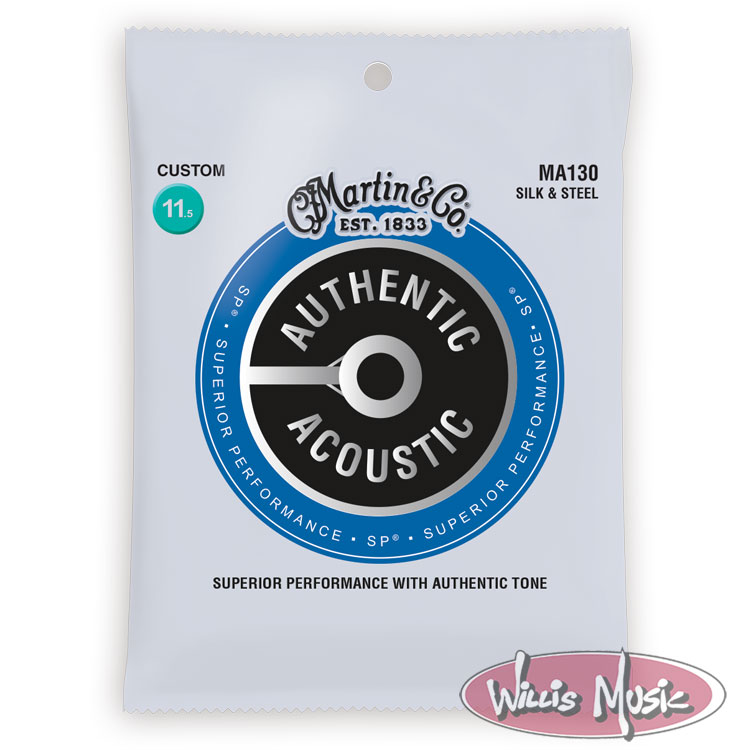 Martin Authentic Acoustic Silk Steel Strings 11.5 - 47