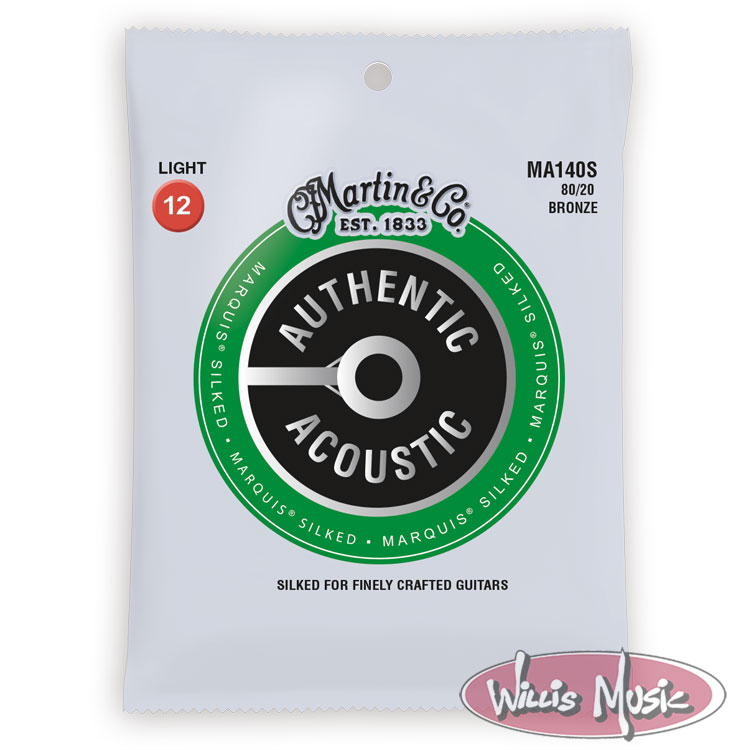 Martin Authentic Acoustic Marquis Silked Light Strings 12 - 54