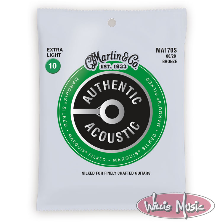 Martin Authentic Acoustic Marquis Silked Extra Light Strings 10 - 47