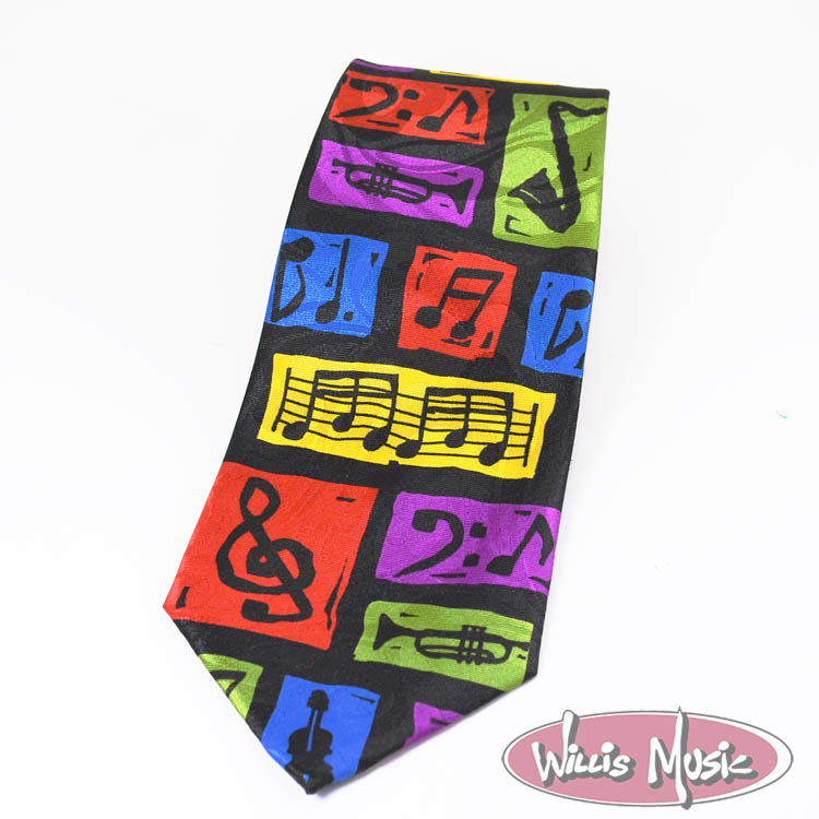 The Music Gifts Tie- Colorful Musical Blocks