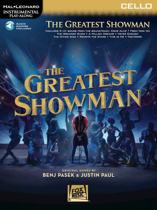 Greatest Showman - Cello Book with Audio Access