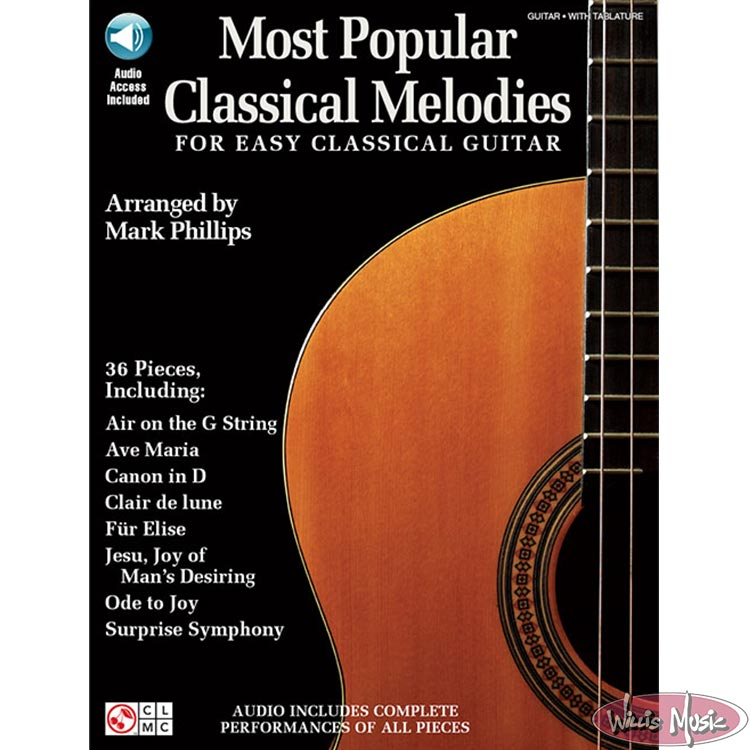 Most Popular Classical Melodies for Easy Classical Guitar BK & CD