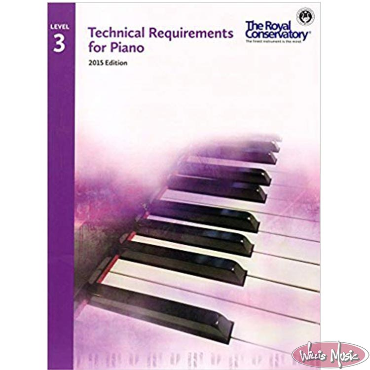Technical Requirements for Piano, Level 3 (Royal Consevatory of Music)