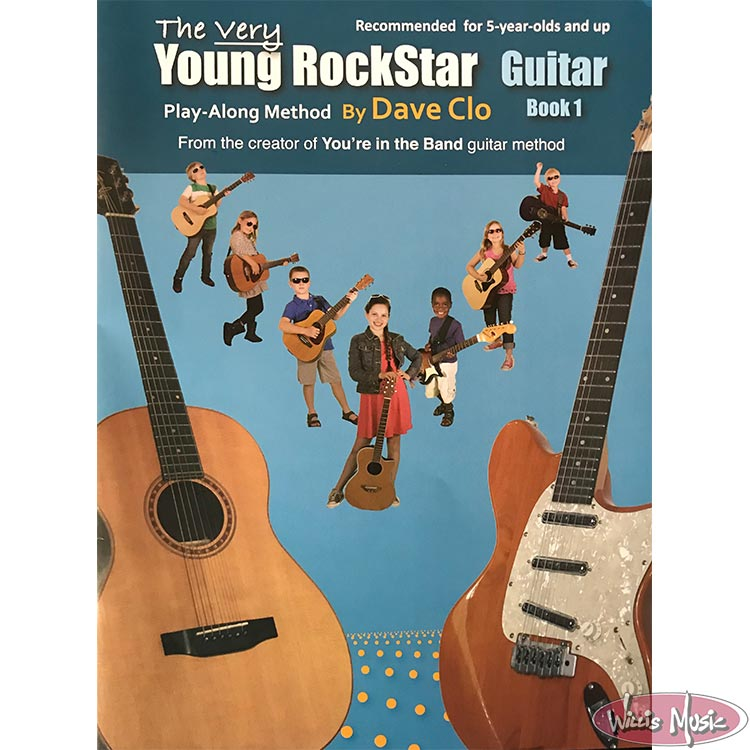 The Very Young RockStar Guitar Book 1 Play-Along Method by Dave Clo
