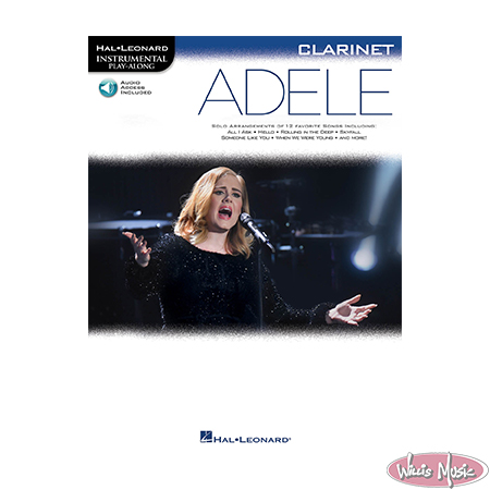 Adele Clarinet Book With Play Along Audio Access
