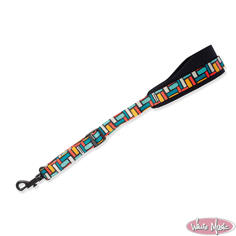 Levy's 2.25 inch Wide Neoprene Saxophone Strap with Printed Polyester Webbing