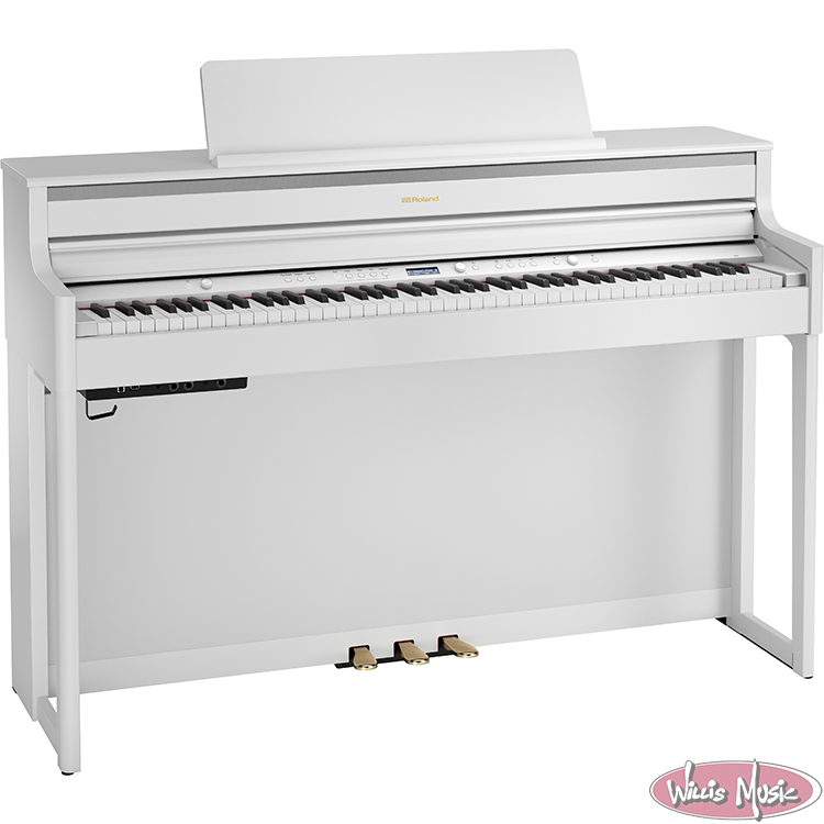 Roland HP-704 Home Piano W/ Bench Pack White