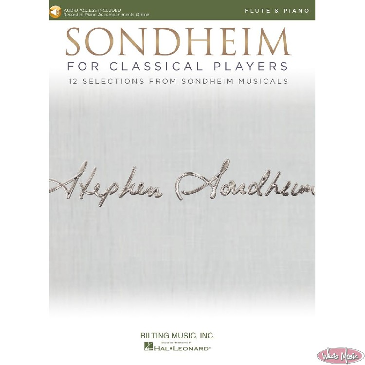 Sondheim - For Classical Players   Flute&Piano Book with Audio Access