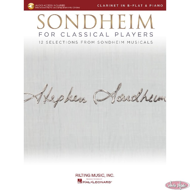 Sondheim - For Classical Players   Clarinet In Bb & Piano Book with Audio Access