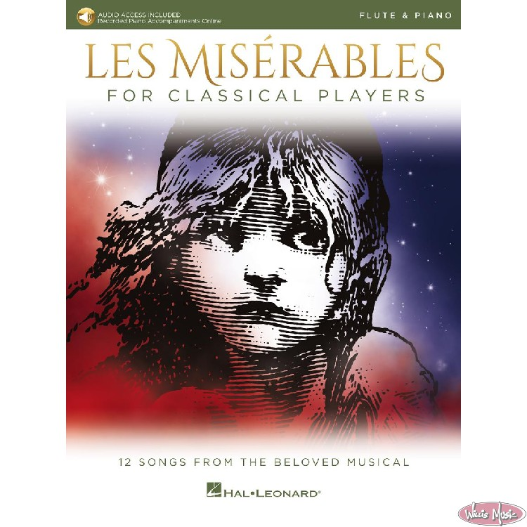 Les Miserables  Flute & Piano Book   with Audio Access