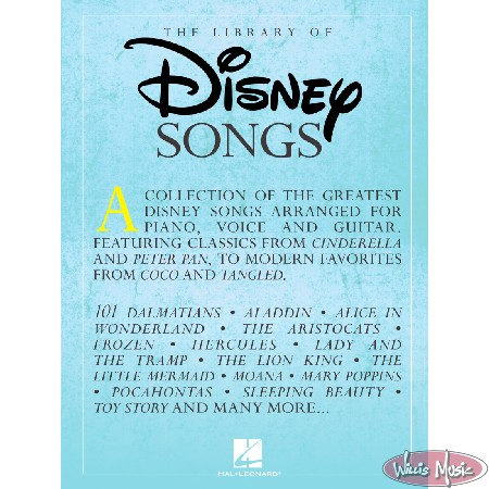 The Library of Disney Songs Piano/Vocal/Guitar Book