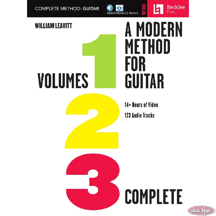 Modern Method For Guitar Volumes 1,2,3 Complete with Online Access