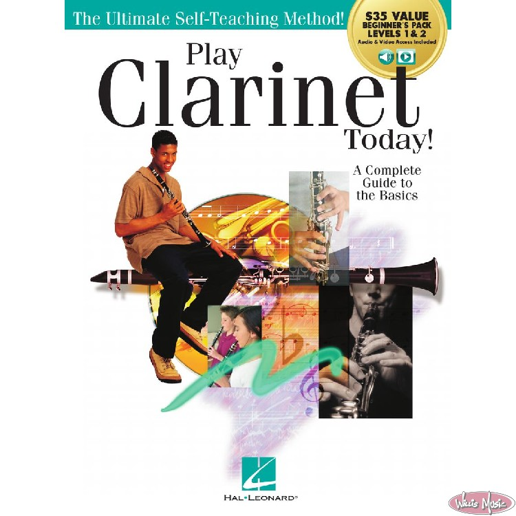 Play Clarinet Today!  Beginner's Pack Levels 1-2  Audio & Video Access
