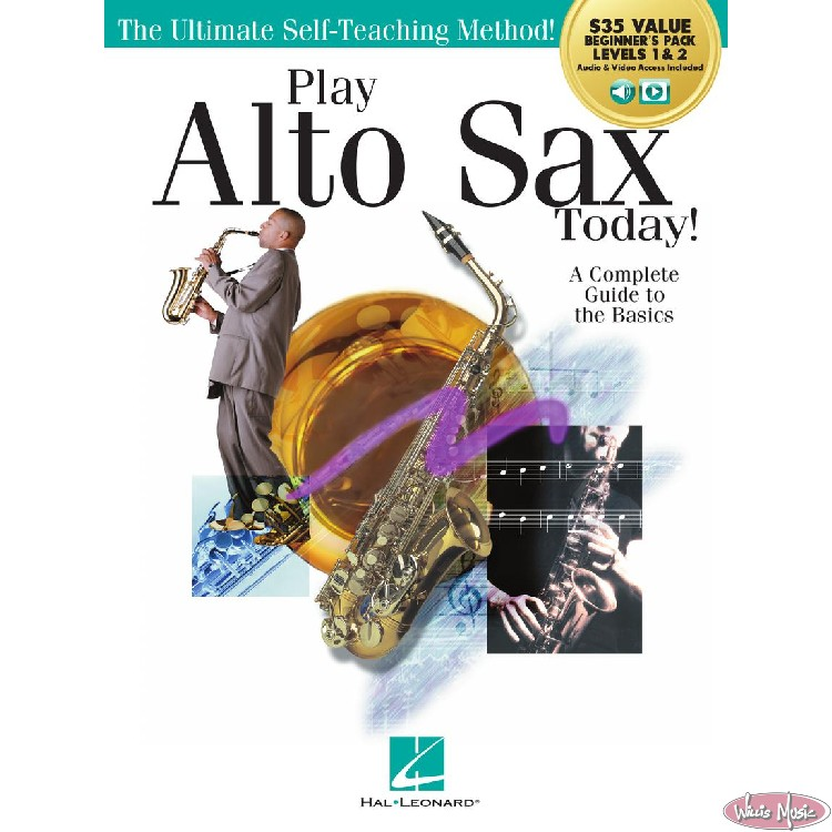 Play Alto Sax Today   Beginner's Pack Levels 1&2 Book with Online Access
