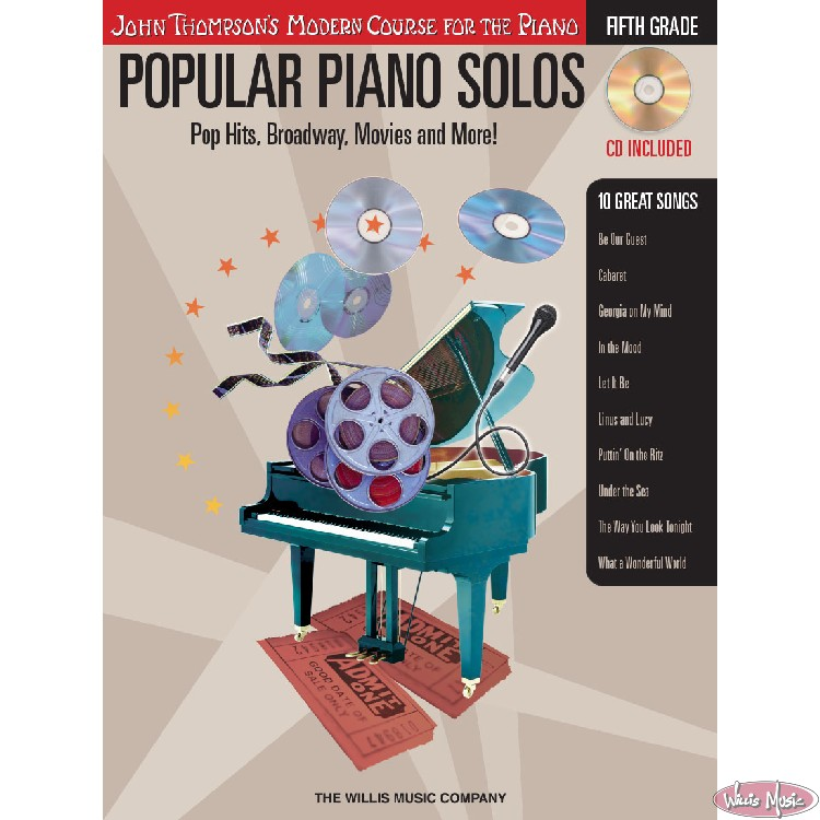 Popular Piano Solos - Grade 5 - Book with Audio Access Pop Hits,Broadway,Movies & More