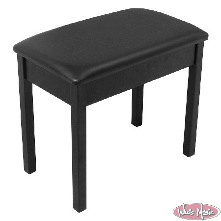 On Stage Piano Bench With Lid Black
