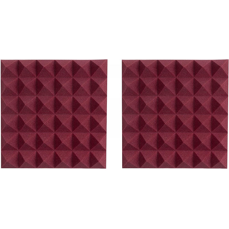 Gator 2 Pack of Burgundy 12x12in Acoustic Pyramid Panel