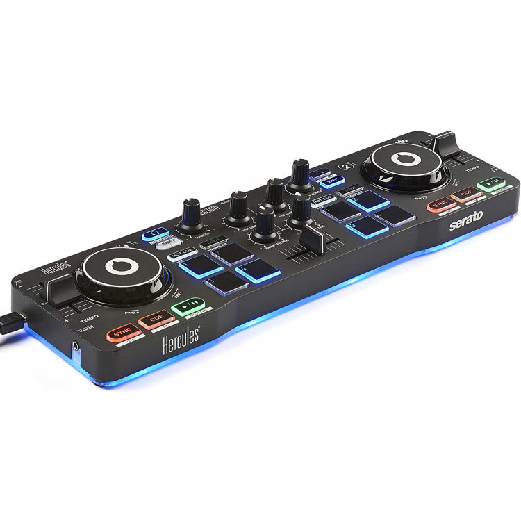 Hecules DJ Control Starlight Compact controller w/built-in sound card for Serato