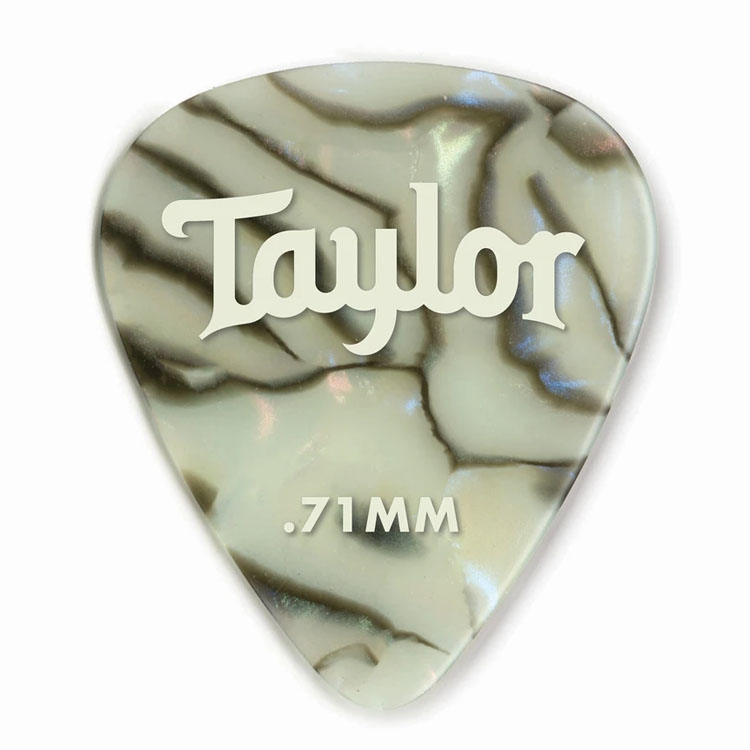 Taylor 80735 Pick Pack - 12 Celluloid 351 Abalone 0.71mm