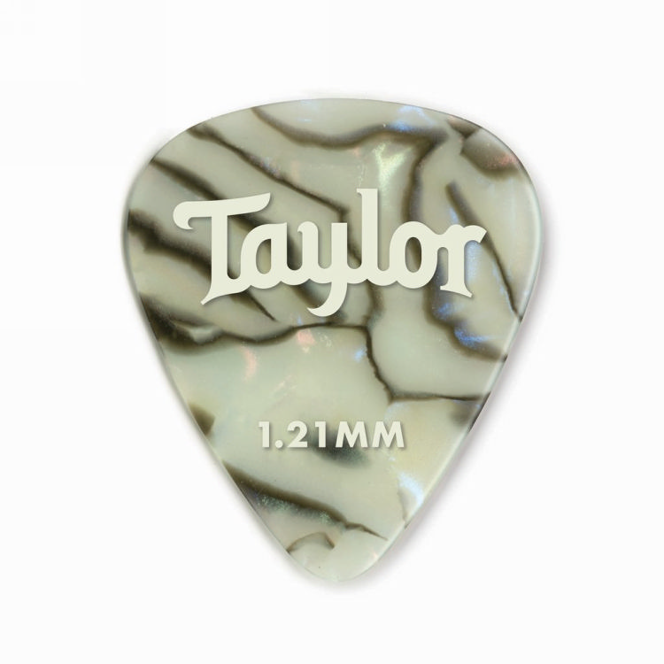 Taylor 80737 Pick Pack - 12 Celluloid 351 Abalone 1.21mm