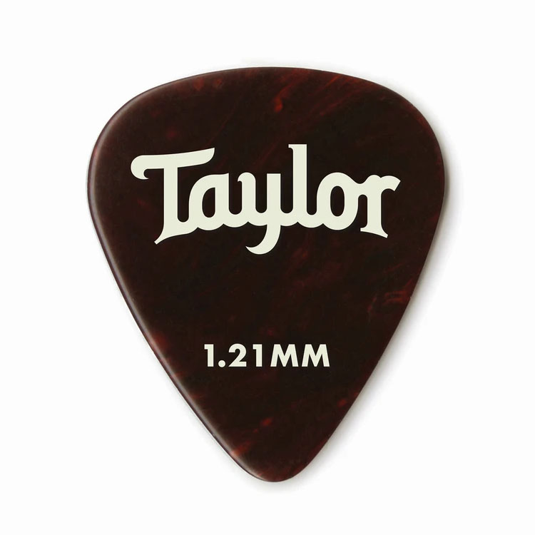 Taylor 80778 Pick Pack - 12 Celluloid 351 Tortoise 1.21mm