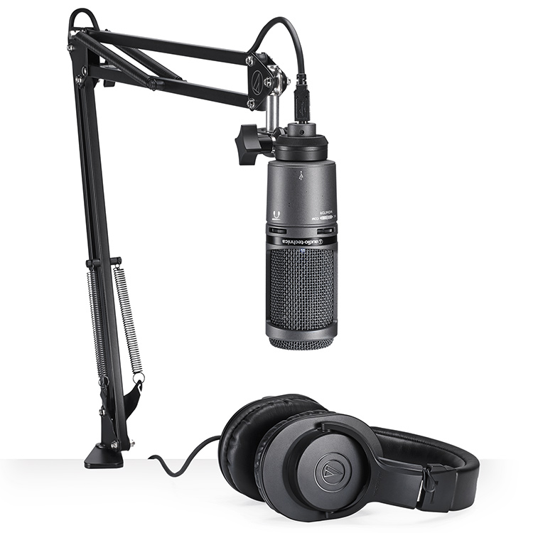 Audio Technica USB2020USB+ Broadcasters Package