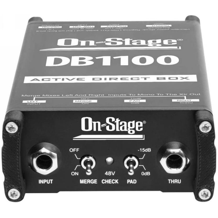 On-Stage DB1100 Actove Direct Box With Stereo To Mono Summing