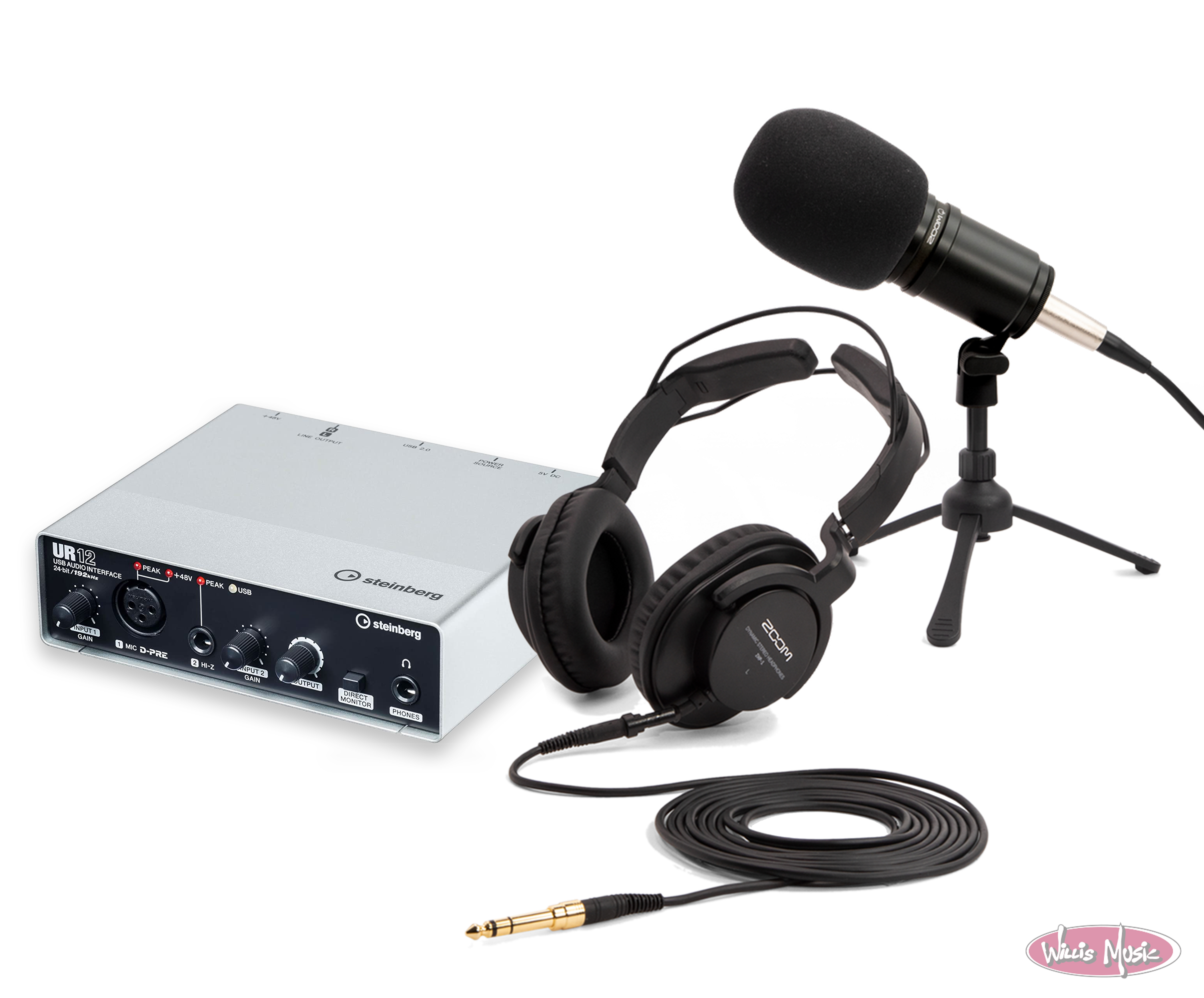 Zoom ZDM-1 Podcast Mic Pack + Steinberg Audio Interface