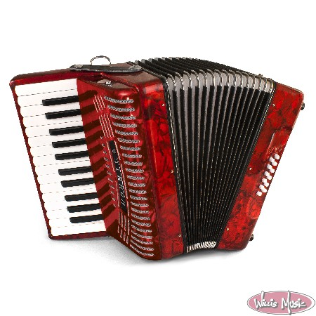 Hohner Hohnica Piano Accordion 12 Bass Red 1303-red