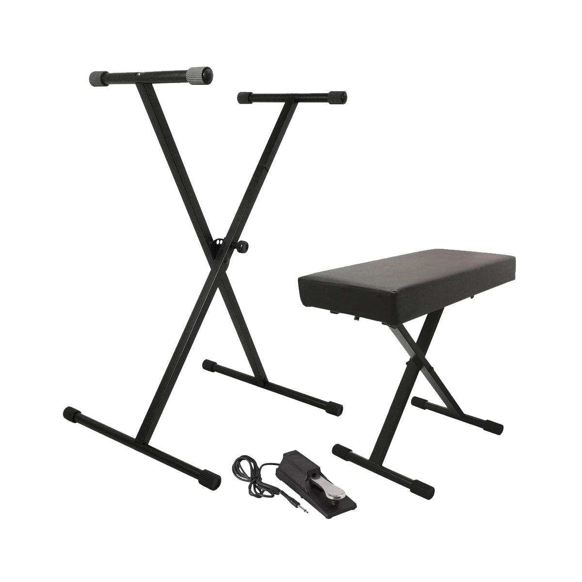 On-Stage Keyboard Stand And Bench Pack With KSP100 Sustain Pedal