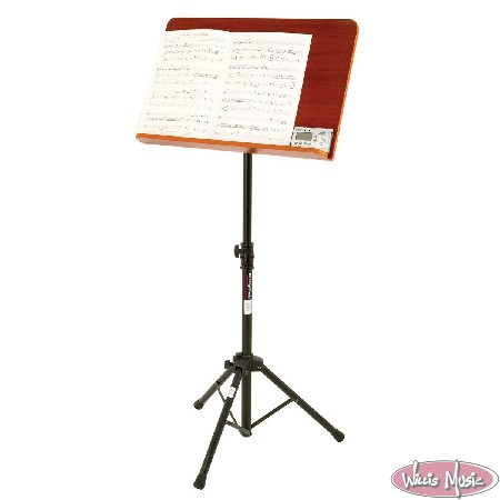 On Stage Conductor Stand Wide Rosewood Backplate