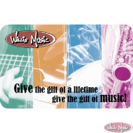 Willis Music Gift Card $100 Give The Gift Of Music!