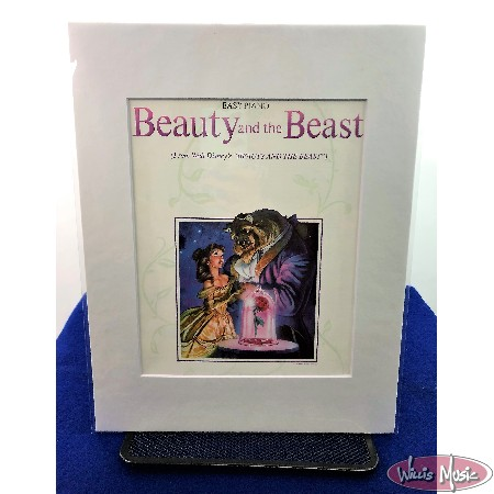 Beauty and the Beast Matted Sheet Music