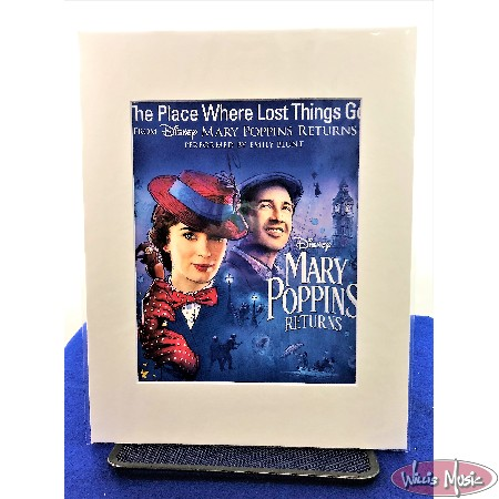 The Places Where Lost Things Go From Mary Poppins Returns Matted Sheet Music